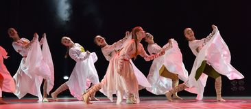 El grupo abierto de la danza del ` s de los niños de la danza Festival-2016 realiza eslavo Imágenes de archivo libres de regalías