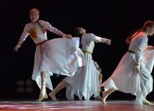 El grupo abierto de la danza del ` s de los niños de la danza Festival-2016 realiza eslavo Imagenes de archivo