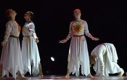 El grupo abierto de la danza del ` s de los niños de la danza Festival-2016 realiza eslavo Fotos de archivo