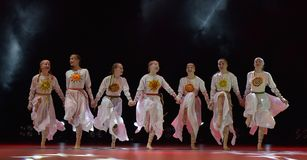 El grupo abierto de la danza del ` s de los niños de la danza Festival-2016 realiza eslavo Fotos de archivo libres de regalías