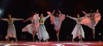 El grupo abierto de la danza del ` s de los niños de la danza Festival-2016 realiza eslavo Imagen de archivo libre de regalías