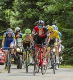El grupo amarillo del jersey - Tour de France 2017 Fotos de archivo libres de regalías