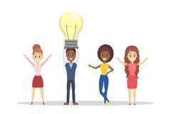 El grupo de hombres de negocios tiene la idea stock de ilustración