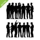 El grupo de la gente siluetea vector Foto de archivo libre de regalías