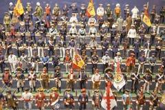 El grupo de la marina de guerra de los soldados, uniforma a lo largo de la historia Imagen de archivo
