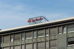 El grupo de Santander es un grupo de actividades bancarias español Imagen de archivo