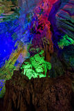 El guangxi de lámina de guilin de la cueva de la flauta Imagen de archivo