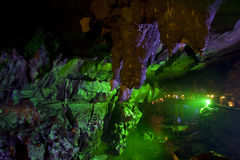 El guangxi de plata de guilin de la cueva Foto de archivo libre de regalías