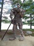 El guarda de la roca con el arma Imagen de archivo
