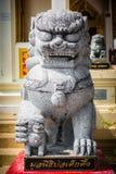 El guardar de piedra de los leones Imagen de archivo libre de regalías