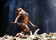 El guerrero de la mujer imagen de archivo libre de regalías