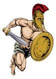 El guerrero del gladiador se divierte la mascota Foto de archivo