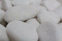 El guijarro blanco empiedra zen Fotografía de archivo