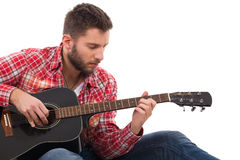 El guitarrista Imágenes de archivo libres de regalías