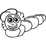 El gusano embroma la página del colorante libre illustration
