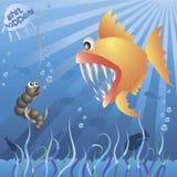 El gusano resuelve pescados Ilustración del Vector
