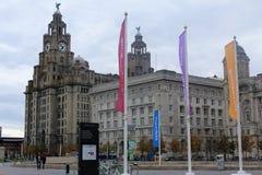 El hígado real que construye Liverpool, en el Reino Unido Fotos de archivo libres de regalías