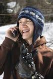 El hablar adolescente en el teléfono. Imágenes de archivo libres de regalías