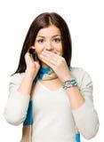 El hablar adolescente en el teléfono Imagen de archivo libre de regalías