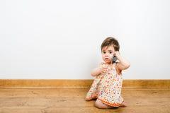 El hablar con el papá Imagen de archivo libre de regalías
