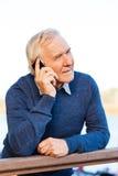 El hablar con su más cercano Imagen de archivo libre de regalías