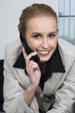 El hablar con un cliente Imagen de archivo libre de regalías