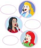 el hablar de 3 muchachas Fotografía de archivo