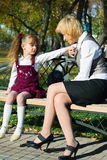 El hablar de la familia. Fotos de archivo