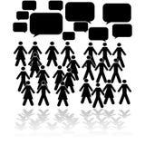 El hablar de la muchedumbre stock de ilustración