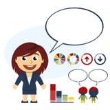 El hablar de la mujer de negocios Libre Illustration