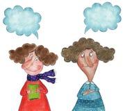 El hablar de las muchachas Imágenes de archivo libres de regalías