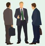 El hablar de los hombres de negocios Imagen de archivo libre de regalías