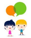 El hablar de los niños stock de ilustración