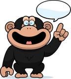 El hablar del chimpancé de la historieta Fotos de archivo libres de regalías