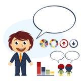 El hablar del hombre de negocios stock de ilustración