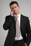 El hablar del hombre de negocios Foto de archivo libre de regalías