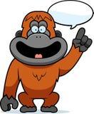 El hablar del orangután de la historieta Imagenes de archivo