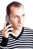 El hablar en el teléfono celular Fotos de archivo libres de regalías