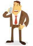 El hablar en el teléfono celular Fotos de archivo