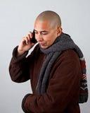 El hablar en el teléfono elegante Imagenes de archivo