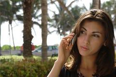 El hablar hermoso de la mujer Imagen de archivo libre de regalías