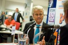 El hacer campaña de Geert Wilders Imagen de archivo libre de regalías