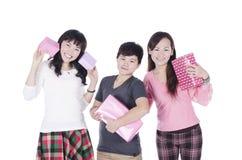El hacer compras bonito de las muchachas Foto de archivo