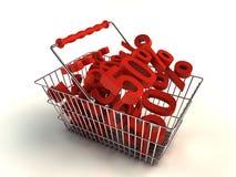 El hacer compras con descuento Fotos de archivo