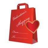El hacer compras con el corazón fotos de archivo libres de regalías