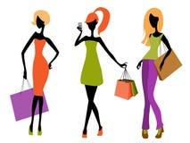 El hacer compras de las chicas jóvenes Foto de archivo
