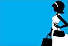 El hacer compras de las mujeres Imagen de archivo libre de regalías