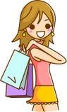El hacer compras de las mujeres Imágenes de archivo libres de regalías