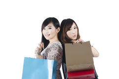 El hacer compras de las mujeres de la moda Imagen de archivo