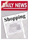 El hacer compras de los periódicos Imágenes de archivo libres de regalías